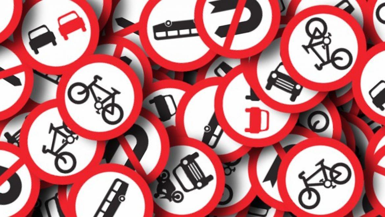 אי שמירת רווח בין כלי רכב